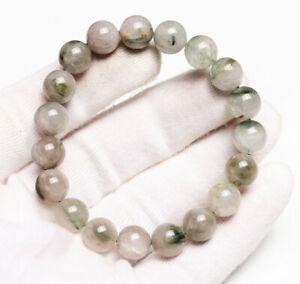 10mm Natural Green hair Rutilated Quartz Crystal Beads Bracelet