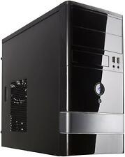 Micro ATX Mini Tower Computer Case Steel Plastic Front Rear Fan Input Output USB