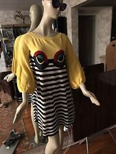 Sonia Rykiel Printed Striped Soft Knit Cruise Collection Dress 46