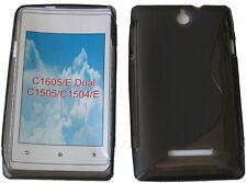 Funda GEL TPU Blando Patrón Negro para Sony Xperia/Dual C1605 C1505 C1504 E