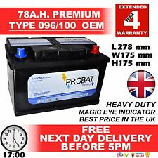 096 / 100 78AH 680CCA NewPLATIN Heavy Duty OEM Car Battery 4 YEAR GUARANTEE 24HR