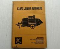 Claas Junior Automatic Mähdrescher Ersatzteilliste Ersatzteilkatalog 01/1966