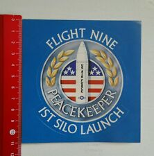 Pegatina/sticker: us air force peacekeeper Flight Nine 1st silo (26101618)