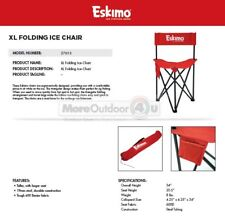 27613 NEW Eskimo XLTall Folding Ice Fishing Shelter Ice Man Chair 250lb Capacity