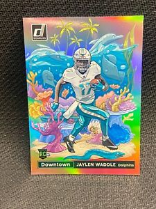 2021 DONRUSS FOOTBALL DOWNTOWN SSP ROOKIE JAYLEN WADDLE MIAMI DOLPHINS