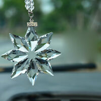 Christmas Crystal Snowflake Ornaments Car Rear View Mirror Ornament Pendant