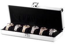 Orbita Lugano 6 Aluminum Six Watch Box Travel Storage Case W81001