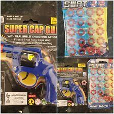 Cap Toy Gun Revolver 8 Shot Ring Caps 1x Pistol Handgun & 2 packs of 20 caps kid