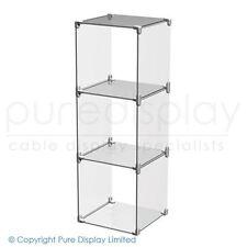 Clear Acrylic Cube Display Set 1x3 - Retail Displays