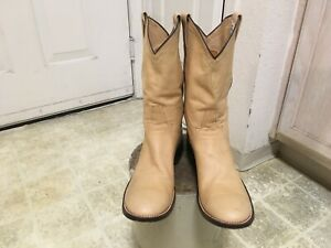 VINTAGE RIOS OF MERCEDES WESTERN HAND MADE BOOTS GREAT COND NOT MUCH USED 12AA