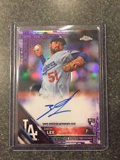 2016 Topps Chrome Purple Refractor Autograph RC Zach Lee #'d 244/250