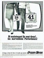 PUBLICITE ADVERTISING 086  1967  Pizon Bros les portaviseurs téléviseurs