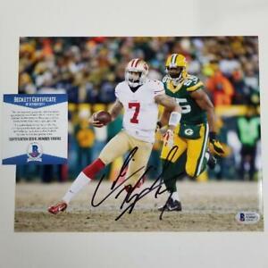 Colin Kaepernick signed San Francisco 49ers 8x10 Photo Autograph Beckett BAS COA