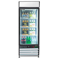 Maxx Cold Commercial Single 1 Glass Door 16cf Merchandiser Refrigerator Cooler