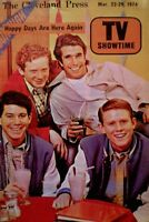 TV Guide 1974 Regional Happy Days Henry Winkler Ron Howard Don Most Williams