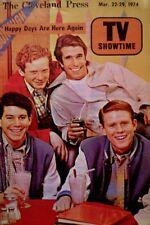 TV Guide 1974 Regional Happy Days Henry Winkler Ron Howard Don Most Williams