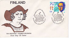 1992 500th ANNIVERSARY OF CHRISTOPHER COLUMBUS EXPLORATION FDC - FINLAND