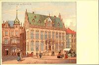 BREMEN Reprint-AK anno 1900 Nachdruck Partie mit Schütting Postkarte Postcard