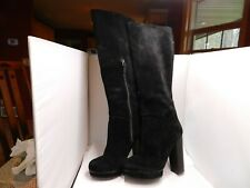 9e1efe442a4 Yves Saint Laurent YSL Tall Suede Leather Boots Size 39 Euro 8.5 USA