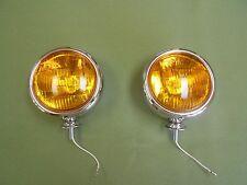vintage style chrome 5 inch 12 volt fog lights light bomb car truck foglight