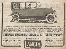 W9063 LANCIA - Landaulet Limousine - Pubblicità del 1917 - Vintage advertising