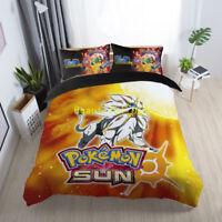 Single/Double/Queen/King Bed Quilt/Doona/Duvet Cover Set POKEMON Pillowcase