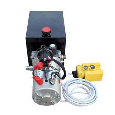 New Single Acting Hydraulic Pump DC 12V Dump Trailer - 8 Quart 3200 PSI Max.