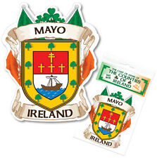 Mayo Ireland County Decal Sticker Irish GAA Auto