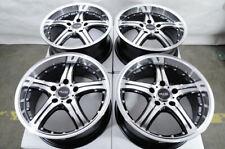 "18"" Wheels Mercedes E230 E320 E500 ML320 ML350 Audi A3 A4 Jetta Black Rims 5x112"