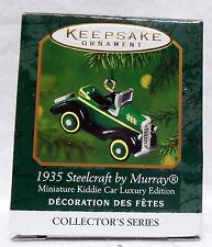 HALLMARK KEEPSAKE ORNAMENT MINIATURE KIDDIE CAR LUXURY 1935 STEELCRAFT BY MURRAY