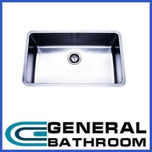 Stainless Steel Single Kitchen Laundry Sink Undermount 450*750*200mm