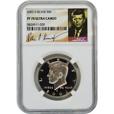 2002-S Kennedy NGC PF70 Ultra Cameo Silver Half Dollar Coin