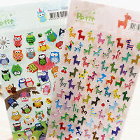 2 Sheets Album Scrapbook Calendar Diary Planner Card Photo Letter Stickers w/