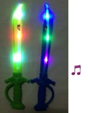 12 Light-Up Ninja Swords Flashing Sound LED Toy Sticks Glow Lot WHOLESALE shark