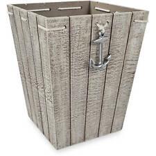 Wastecan Large Basket Bathroom Decor Accessorie Different Applications Wood New