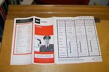 BEA TURKIYE TARIFESI  1 NOV 1966 - 31 MARCH 1967 TURKEY TIMETABLE FARES  MAP