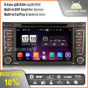 64GB CarPlay Android 10 Car Stereo GPS Head Unit for VW Touareg T5 Multivan DSP