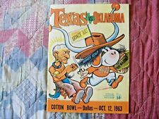 1963 TEXAS OKLAHOMA PROGRAM College Football LONGHORNS NATIONAL CHAMPIONS! AD