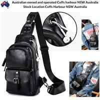 NEW Black Leather Cross Body Shoulder Bag Fashion Messenger Travel Satchel Bag