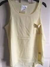 BNWOT Atmosphere Sleeveless Top. Woman's. Size 12. Yellow. Chiffon Feel.