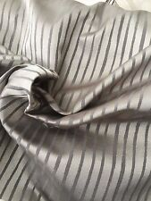 12.4m Maurice Kain Uncoated fabric - Self stripe  - Reflective - Evening Shadow
