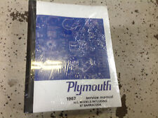 Super Repair Manuals Literature For 1967 Plymouth Barracuda For Sale Ebay Wiring Database Gramgelartorg
