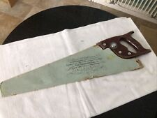 "VINTAGE SPEAR AND JACKSON 22"" PANEL SAW R88 10tpi WITH SLEEVE. Used. See Des."