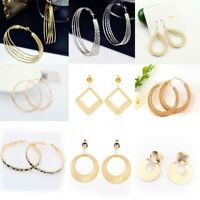 Women Simple Geometric Circle Ear Stud Drop Dangle Earrings Fashion Designs