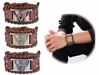 Vintage Talisman Norse Fenrir Viking Wolf Celtic Trinity Knot Bracelet for Men