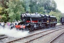 PHOTO  1986 STANIER 8F NO 8233 AT HIGHLEY STANIER 8F 2-8-0 LOCO NO 8233 IN THE S