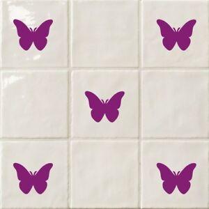 Butterflies - Bathroom, Kitchen ,Tile, Home Transfer Stickers Chose Colour & Qty