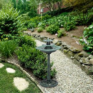 Pedestal Bird Bath 3 Tier Outdoor Fountain Garden Decor Planter Water Birdbath