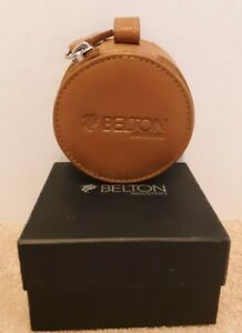 """Belton Ind. Durable Leather Earbud Case/Earphone Pouch/Storage/Cable Card 3 x 2"""""""