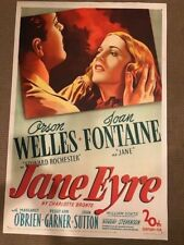 JANE EYRE.  one sheet on linen.  Orson Welles and Joan Fontaine.  1943